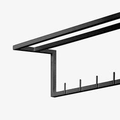 17x90 cm Towel Rack - Black - alt_image_one