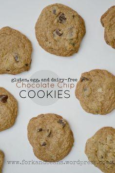 vegan fluten free choc chip cookies
