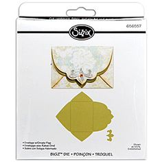 @Overstock.com - Sissix Bigz die cut cleanly through most thick materials as well metallic foils, paper and much more. These delightful die are designed by Rachael Bright. http://www.overstock.com/Crafts-Sewing/Sizzix-Bigz-BIGkick-Big-Shot-Envelope-with-Ornate-Flap-Die/5521319/product.html?CID=214117 $18.49