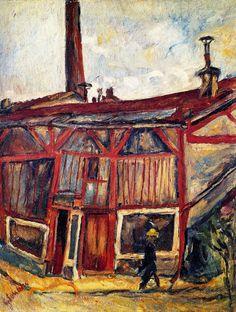 Chaim Soutine  | The artist's studio, Cité Falguière, 1915-1916