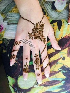 70 Latest Rose Mehndi Designs Of 2018 || Simple Rose Mehndi Images To Inspire You | Bling Sparkle