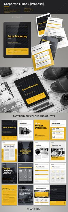 Corporate E-book Template InDesign INDD. Download here: http://graphicriver.net/item/corporate-ebook-template/15672689?ref=ksioks