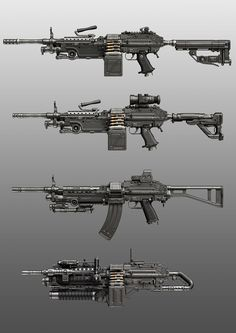 Various weapon illustrations and concepts. Ninja Weapons, Sci Fi Weapons, Weapon Concept Art, Fantasy Weapons, Weapons Guns, Guns And Ammo, Zombie Weapons, Level Design, Futuristic Armour
