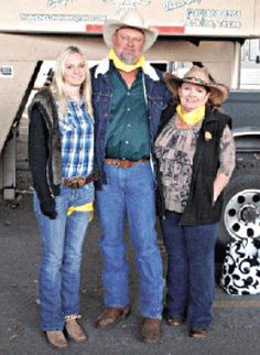 """Thera Hope, Derek, and Hope Thurmond of Thurmond Longhorns... """"Thurmond Longhorns joined a Western tradition in February -- the Longhorn Cattle Drive leading the mile-long Western Heritage Parade which kicks off the San Antonio Stock Show & Rodeo, through downtown San Antonio, even by the Alamo."""""""