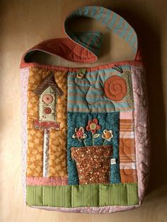 SpringTime Bag 2 by PatchworkPottery, via Flickr
