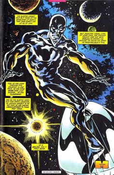 A great drawing of the Silver Surfer by John Buscema. Inks, colour and cover layout by Scott Dutton / Catspaw Dynamics. Comic Book Artists, Comic Book Characters, Marvel Characters, Comic Books Art, Comic Art, Marvel Comics Superheroes, Marvel Vs, Captain Marvel, Surfer D'argent