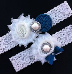 Wedding Garter / Teal Wedding Garter / Ivory by SimplyKateGrace, $18.50