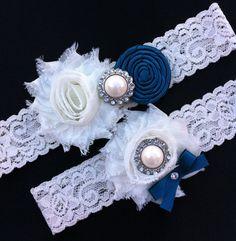 Wedding Garter / Teal Wedding Garter / Ivory by SimplyKateGrace, $18.50