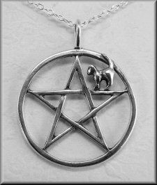 Spirit Cat Pentagram Pendant