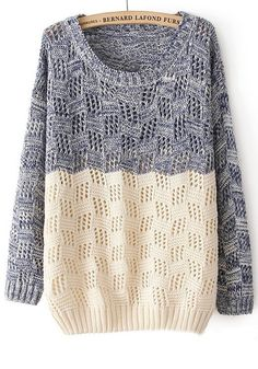 Inspiration: Split two sweaters and sew them together!