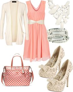 """""""Sunday church outfit"""" by britanyisham on Polyvore  (except -- who wears this high of heels to church?)"""