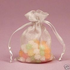 Favor Bags White Wedding OR Shower Lot Organza   Nice!!