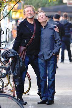 John Paul Jones and Robert Plant