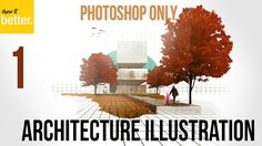 WATCHED! Architecture Illustration only in Photoshop   Part 1  Circle Frame - Arc...