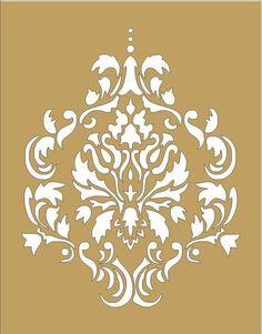 Damasco plantillas Damasco 5 diseño de la por SuperiorStencils