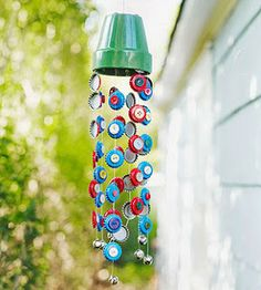 how to make a wind chime out of recycled materials