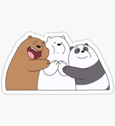 Ice Bear Stickers,We Bare Bears Sticker. Stickers Cool, Stickers Kawaii, Bubble Stickers, Cartoon Stickers, Printable Stickers, Cartoon Wallpaper, Bear Wallpaper, Wallpaper Iphone Cute, We Bare Bears Wallpapers