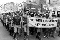 """""""We Won't Fight Another Rich Man's War!!!"""" - Vietnam Veterans Against the War, circa 1970."""