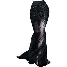 hlavida ❤ liked on Polyvore featuring skirts, doll parts, dolls, legs, bottomes, black knee length skirt и black skirt