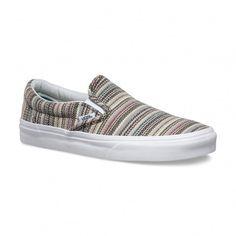 Vans Chaussures Classic Slip-On (Textile Stripes) Balsam/True White - Vans France Boutique en ligne officielle