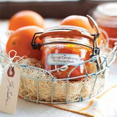 This preserved Orange-Cardamom Marmalade can be spooned over buttered toast or spread on a brioche roll or croissant.