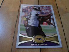 2012 Topps NFL Football Card 36 Ed Dickson Baltimore Ravens   eBay #EdDickson #BaltimoreRavens #2012 #Topps #sportscard