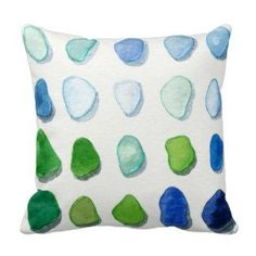 Beach accent pillows are the way to bring the Sea to you.  You will apprecaite that beach accent pillows look amazing in the following home decor themes, lighthouse home decor, nautical home decor, beach home decor, maritime  home decor and coastal home decor.  While being cute you will appreciate the use of bold colors coupled with beautiful patterned pillows.  If you are looking to add both depth and texture beach throw pillows are ideal. Also  Sea glass, beach glass art painting square…