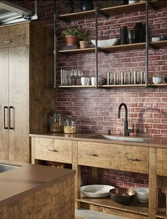 Cool 88 Stylish Kitchens Ideas with Brick Walls and Ceilings. More at http://88homedecor.com/2017/12/31/88-stylish-kitchens-ideas-brick-walls-ceilings/