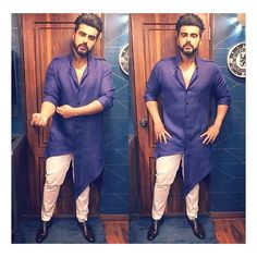 "109 Likes, 8 Comments - Mint Blush (@mintblushdesigns) on Instagram: ""#actor @arjunkapoor looks #edgy wearing #mintblushdesigns white cotton handloom pants for the…"""