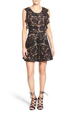 For Love & Lemons 'Gianna' Floral Lace Minidress