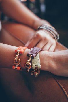 Love leather wrap bracelets