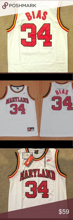 Nike Len Bias Maryland Terps Swingman XL, NWT!! Brand new with box, Nike Swingman White Home Maryland Terps Jersey. Fully embroidered and very soft and comfortable. A great gift for any Boston Celtics or Maryland Terps fan!! Nike Shirts Tank Tops