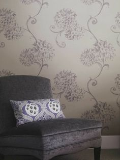 soft purple is so soothing. Soft Purple, Purple Haze, Cottage Wallpaper, Shades Of Violet, Decorative Accessories, Blinds, Burgundy, Decorating Ideas, Color