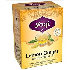 Yogi Tea Organic Lemon Ginger Tea 16 Bags 102 oz ** Find out more about the great product at the image link.Note:It is affiliate link to Amazon.