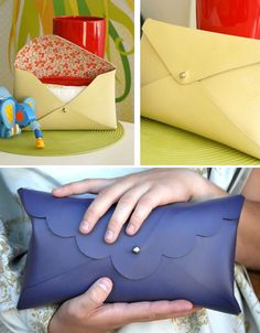 DIY: poopy clutch. Totally can make this since I have the materials from doing the business card holder!
