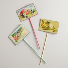 One of my favorite discoveries at WorldMarket.com: Vintage-Inspired Easter Picks, Set of 3