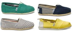 Toms Shoes-- NEED the yellow ones for the wedding! So not wearing heels!