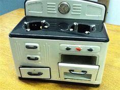 German made metal toy stove.