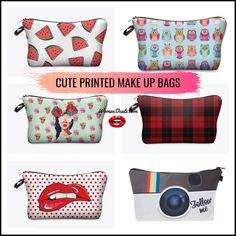 Take a look at our Cute Printed Makeup Bags. Available in a range of colors and designs - click the link in our BIO. to checkout our newest addition to our store.