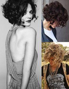 Cortes, penteados e inspirações para cabelos com cachos. Tem franja e curtinho também!