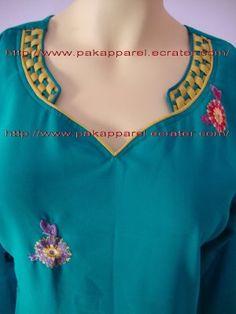 PAKAPPAREL : Neckline Design : 32 Salwar Neck Patterns, Salwar Kameez Neck Designs, Salwar Pattern, Churidar Designs, Chudithar Neck Designs, Neck Designs For Suits, Neckline Designs, Blouse Neck Designs, Kurti Sleeves Design