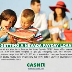 GETTING A NEVADA PAYDAY LOAN For those of you who live in Reno or Las Vegas, Nevada, CASH 1 Loans offers payday loans, which are short-term loans designed t. http://slidehot.com/resources/getting-a-nevada-payday-loan-by-cash-1-loans.10162/