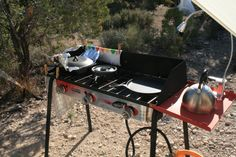 Our Big Gas Grill by Camp Chef  Camp Chef, #Big Gas Grill#  Desert Pass Campground. Desert National Wildlife Range