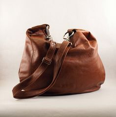 334ab2fed927 UMA Leather Bag Burnt Paprika Leather Hobo Bag by margeandrudy Leather Hobo  Handbags