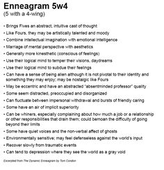 Enneagram 5w4 (Five with a Four-wing) by Tom Condon