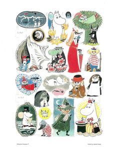 The history of Moomin mugs by Arabia, part 4 – the first character mug designs weren't approved for production - Moomin Tove Jansson, Moomin Tattoo, Les Moomins, Moomin Mugs, Moomin Valley, Childhood Stories, Cutest Thing Ever, Illustrations And Posters, Fashion Illustrations