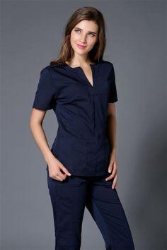 68a1b10fcef ... medical scrubs Suppliers: 2017 Summer women hospital medical scrub  clothes set dental clinic and beauty salon nurse uniform fashionable design  slim fit