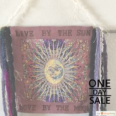 Today Only! 10% OFF this item. Follow us on Pinterest to be the first to see our exciting Daily Deals.  Today's Product: Live by The Sun Love By The Moon wall hanging, Gypsy Home Decor, Original Hand Burned Leather     Picture, bohemian, Shabby Chic, Rustic.  Buy now: https://orangetwig.com/shops/AAAm6G3/campaigns/AACDjZB?cb=2016002&sn=TheGypsyBirdcage&ch=pin&crid=AACDjYv&exid=266693716