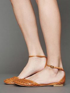 Jeffrey Campbell Lilianna Flat at Free People - currently coveting for spring and summer office shoe