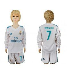 Real Madrid Kroos Home Long Sleeves Kid Soccer Club Jersey Real Madrid Gareth Bale, Real Madrid Cristiano Ronaldo, Toni Kroos, Kids Soccer, Bali, Rain Jacket, Windbreaker, Youth, Graphic Sweatshirt